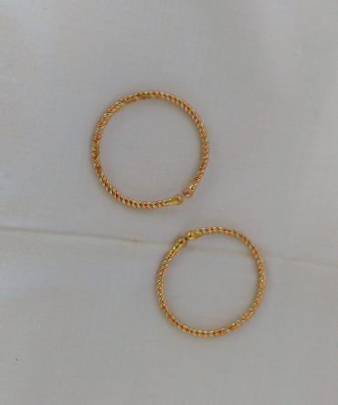 Kal Thandai /  Lead Twisted Anklet & Copper / கால் தண்டை